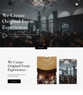 Event planner website