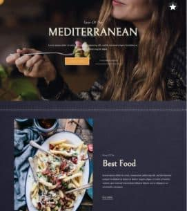 website Mediterranean restaurant