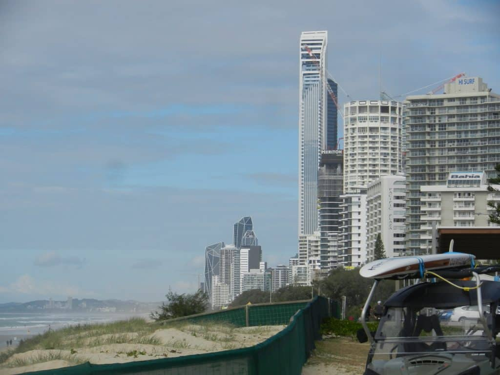 the Gold Coast foreshore