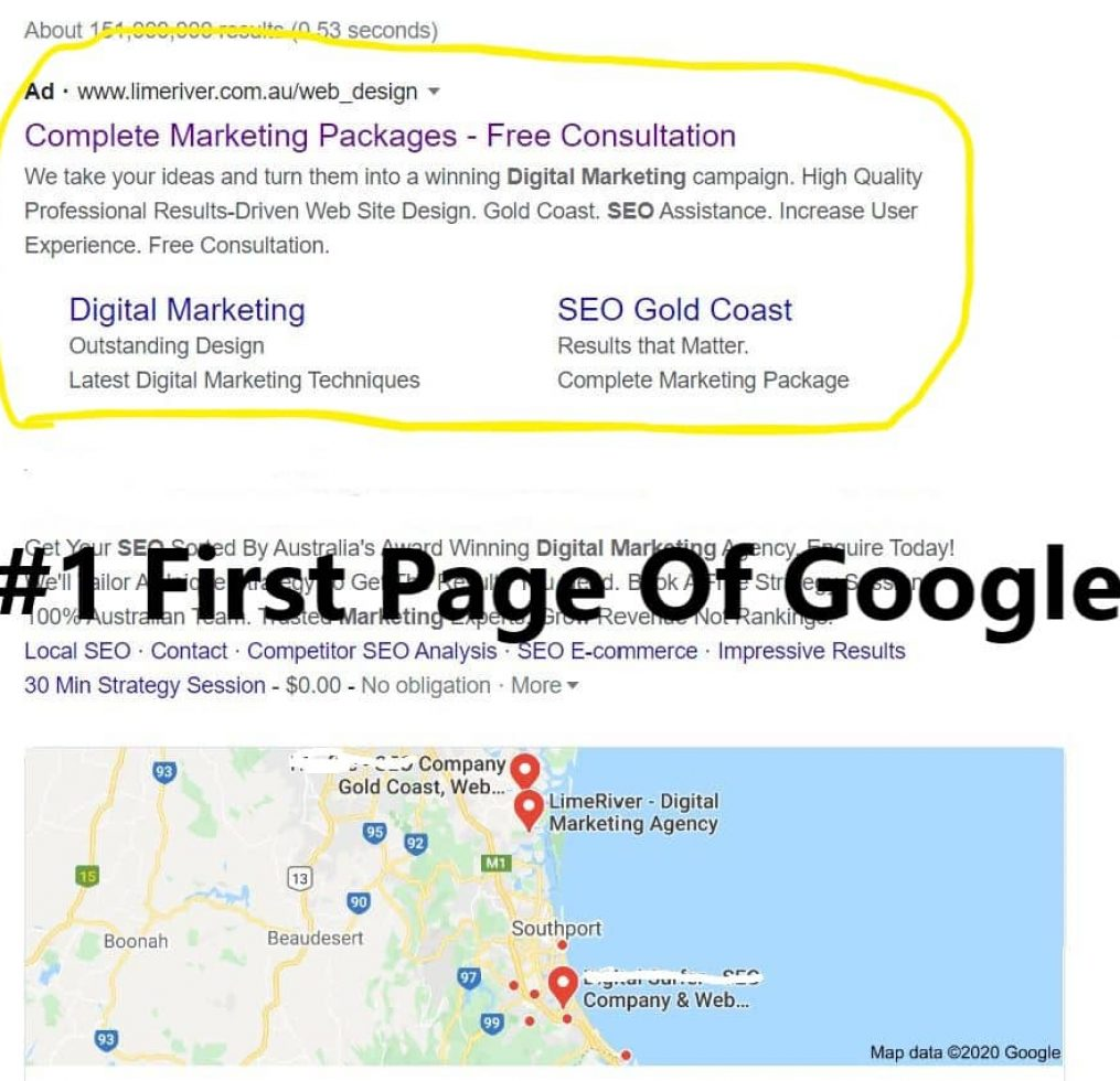 #1 First Page Of Google